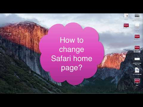 How to change Safari home page in Mac OS X?