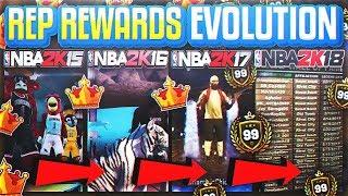 EVERY REP REWARD JETPACKS TIGERS MASCOTS! NBA 2K15 - 2K19 ( REP REWARD EVOLUTION )