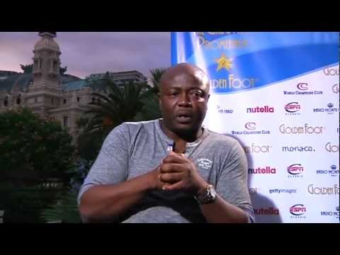 "Interview with Abedi Ayew ""Pelé"" at 2011 Golden Foot event(1/2)"