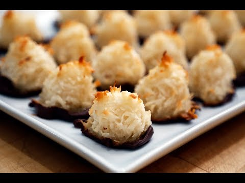 Holiday Cookies: Chocolate-Dipped Coconut Macaroons