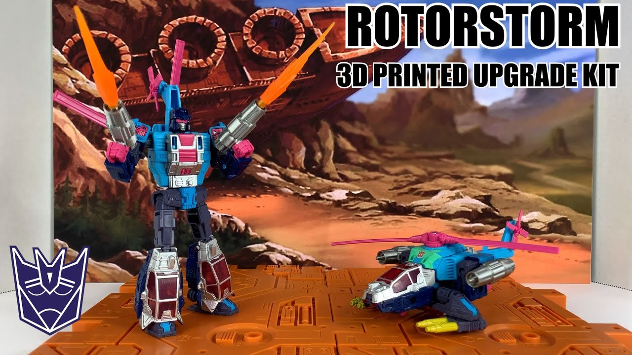 Transformers Generations Selects Rotorstorm 3D Printed Upgrade Kit By Enewtabie