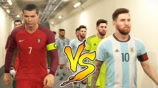 One of Rich Leigh's most viewed videos: Team Messi VS Team Ronaldo - PES 2018 Experiment