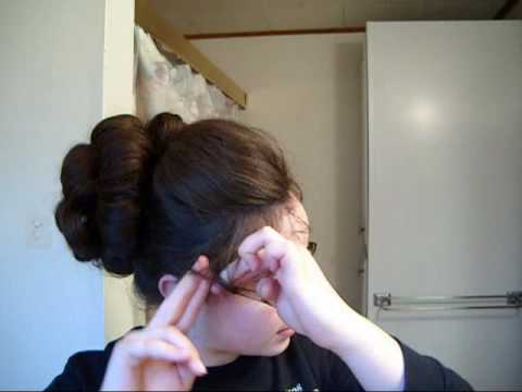 Big updo for medium to long hair - YouTube
