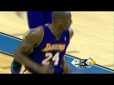 12 05 2008   Lakers vs  Wizards   Ariza Behind The Back To Kobe For Double Pump Dunk