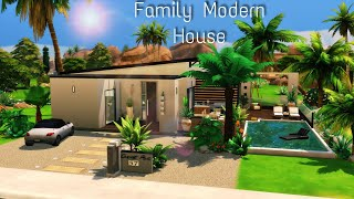 Perfect Modern Family House   Stop Motion Sims 4   No CC