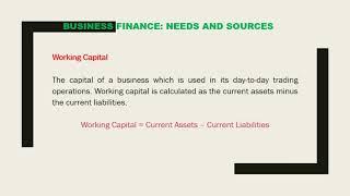 O Level Grade 11 Business Studies Lesson 1 Business Finance
