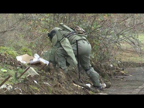 Российские саперы приступили к новому этапу разминирования в Нагорном Карабахе.
