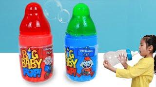 어떤게 더 맛있을까요? 서은이의 신비아파트 드로잉 캔디 사탕 빅 베이비팝 아무놀이 Big Baby Pop Candy Contest VS Mommy Seoeun Story