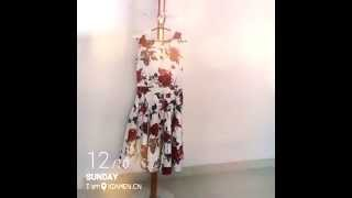 1950s pin up floral rockabilly swing dress ReoRia Thumbnail