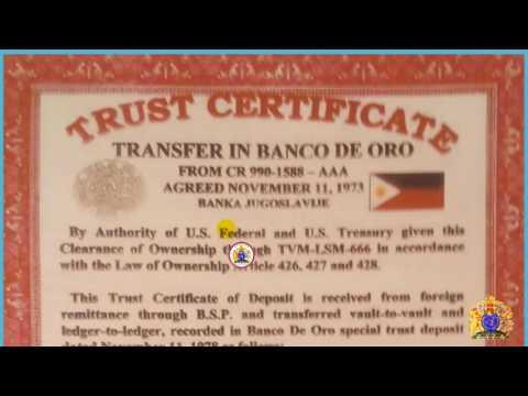 HRH. TVM-LSM-666 VARIOUS TRUST DEPOSIT AT BANCO DE ORO