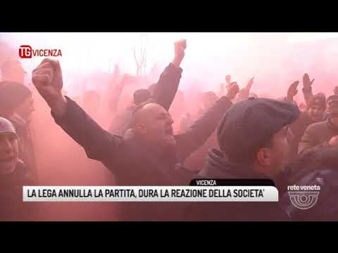TG VICENZA (13/01/2018) - LA LEGA ANNULLA LA PARTITA, DURA LA REAZIONE DELLA SOCIETA'