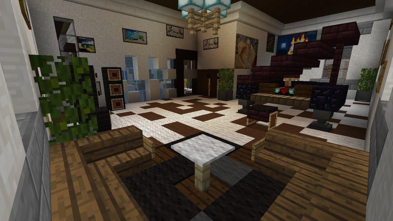 Minecraft Casa Simples 9 Divisão, decoraçãointerior (Beta