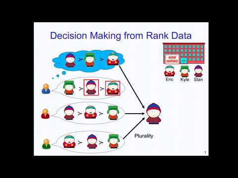 IJCAI17 T12 - Learning and Decision-Making from Rank Data - 1/2 (HD)
