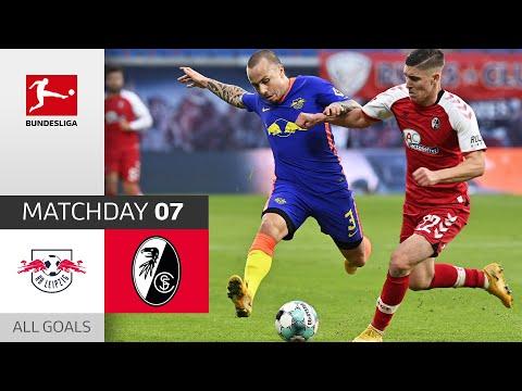 Angeliño scores with superb free kick | RB Leipzig - SC Freiburg | 3-0 | All Goals | Matchday 7