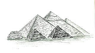 How to Draw the Pyramids of Giza