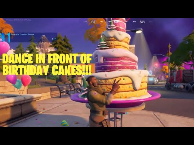 How to Dance in front of Birthday Cakes - Fortnite Season 8 Quest