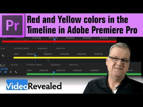 Red and Yellow colors in the Timeline in Adobe Premiere Pro