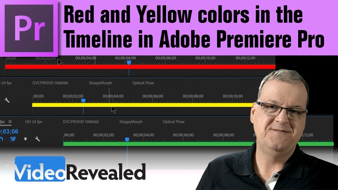 Red And Yellow Colors In The Timeline In Adobe Premiere Pro Youtube