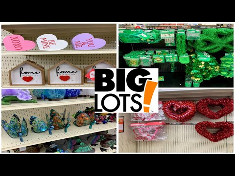 BIG LOTS VALENTINES DAY DECOR & ST PATRICKS DAY DECOR * COME WITH ME