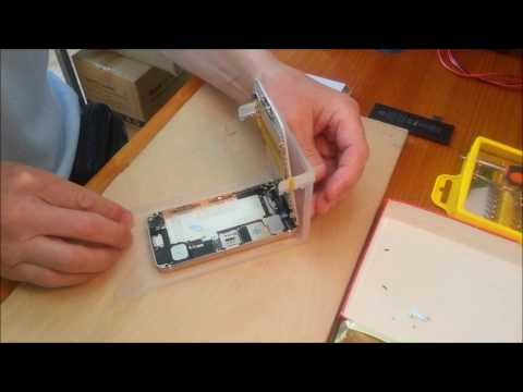 how to change iphone 5 battery how to replace iphone 5 battery using display holder 18621