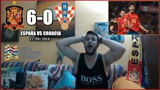 ESPAÑA 6 CROACIA 0 REACCION | HIGLIGHTS | UEFA NATIONS LEAGUE 11/09/2018