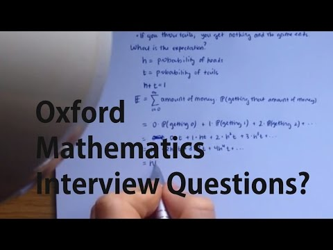 Oxbridge Mathematics Interview