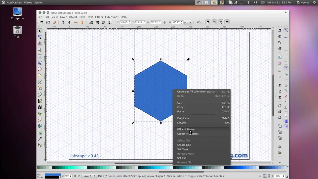 how to add grid in inkscape