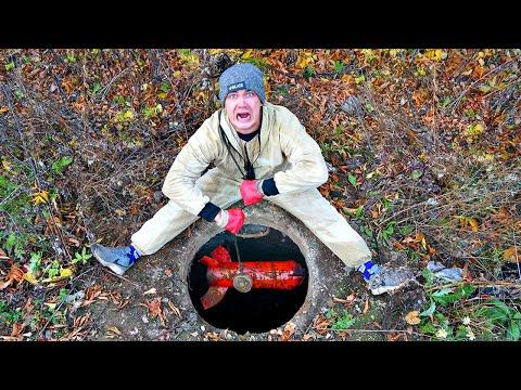 Эту жуткую находку мы нашли и достали из колодца с помощью поискового магнита!