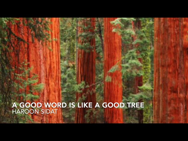 Watch what you say: A Good Word can become a Good Tree