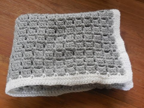 Youtube Crocheting Baby Blanket : babydeken haken / baby blanket crochet beginner - YouTube
