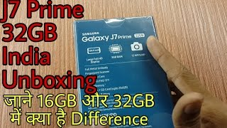 Galaxy J7 Prime 32GB Indian Version Unboxing in Hindi