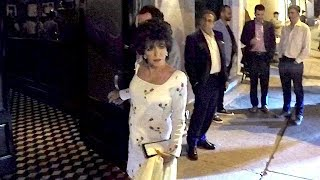 Joan Collins Oozes Glamour As She Dines With Hubby Percy Gibson In WeHo
