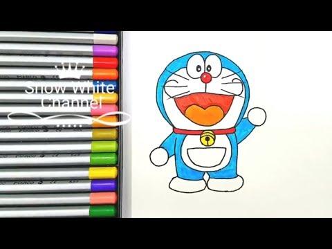 Cách vẽ Doraemon đơn giản – How to draw Doraemon – Doraemon