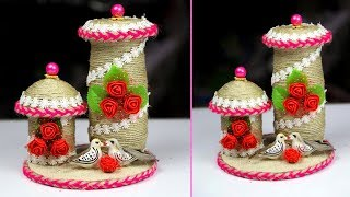 Awesome mini showpiece\flower vase making    Plastic bottle mini showpiece