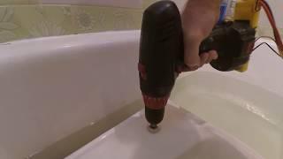 отверстие для смесителя в керамических изделиях за 5 мин, или раковина без отверстия под смеситель