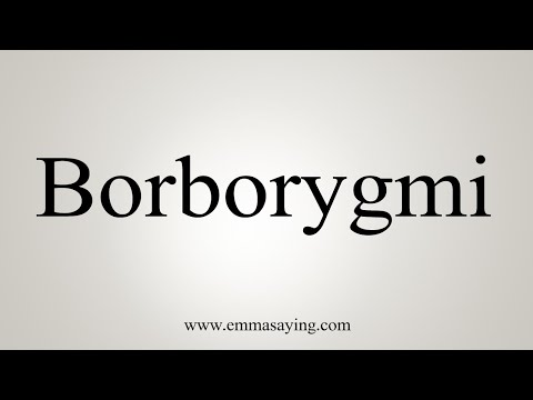 How To Pronounce Borborygmi