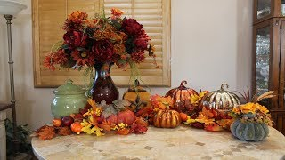 FALL SHOPPING HAUL - TUSCAN FALL FLORAL ARRANGEMENT - FALL DECOR - CHIT CHAT