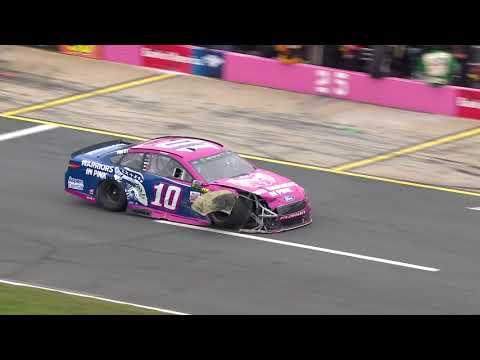 Patrick collides with Ragan in hard Charlotte crash