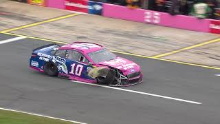 Patrick collides with Ragan in hard Charlotte crash