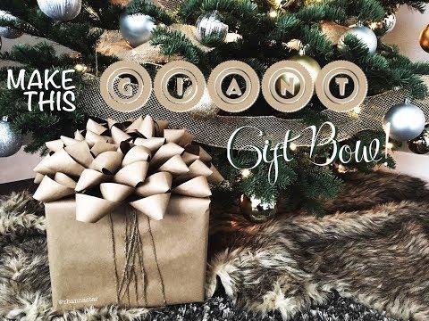 DIY Tutorial Gift Wrap Giant Gift Bow