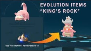 Where to use kings rock in pokemon go