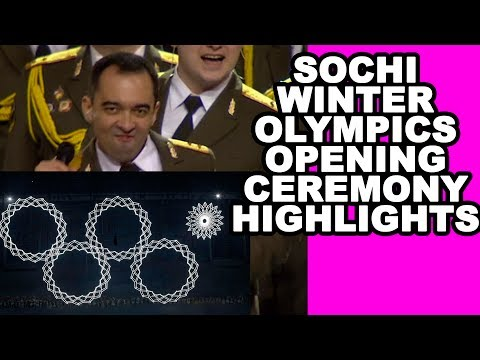 Sochi Winter Olympics 2014 Opening Ceremony: Russian Police Choir 'Get Lucky,' Olympic Ring Mishap
