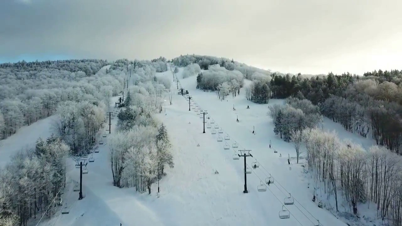 canaan valley resort ski slopes - drone footage - youtube