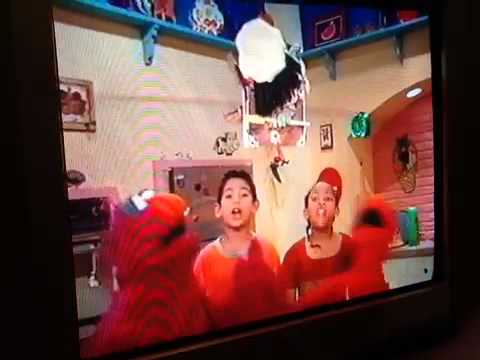elmos high pitched scream makes the timer fly in the air