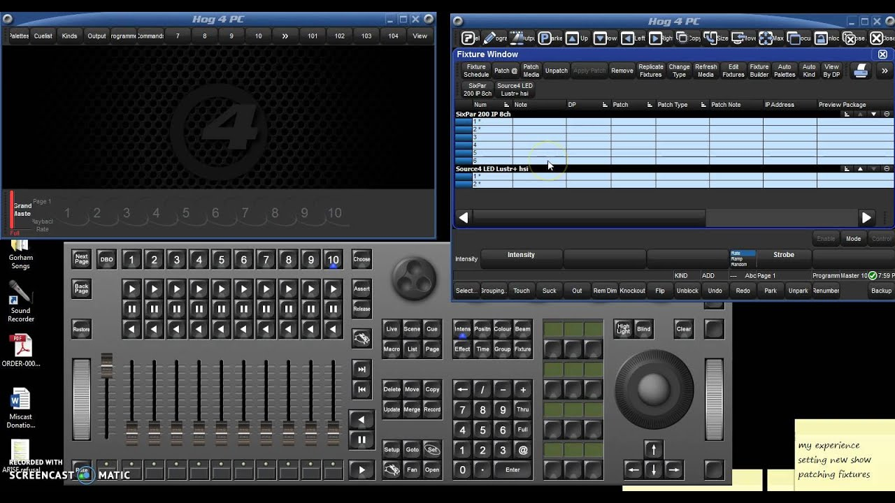 HOG 4PC Tutorial - Part 1 - New Shows & Patching Fixtures ...