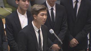 """'2030 유엔무대' 장식한 방탄소년단…""""자신의 목소리를 내달라"""" / 연합뉴스TV (YonhapnewsTV)"""