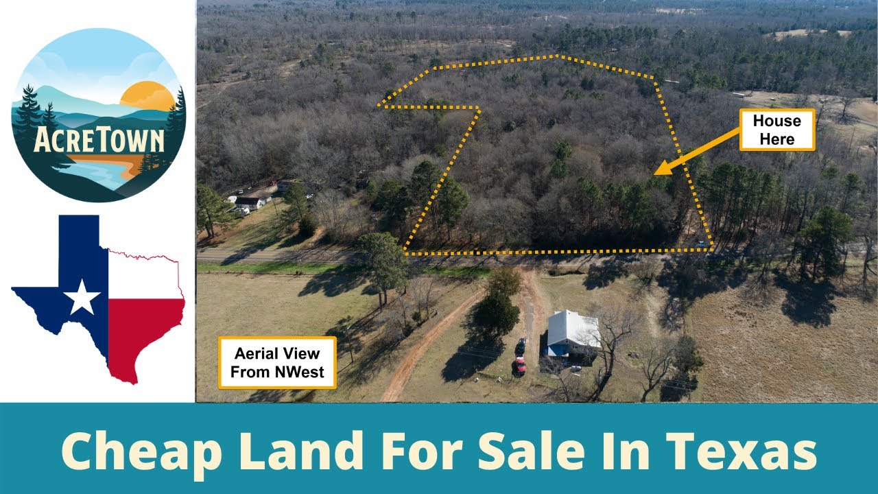 Land For Sale In Texas | 10 Acres w/Old Farm House + Shed | Paved Road Access | Power + Water