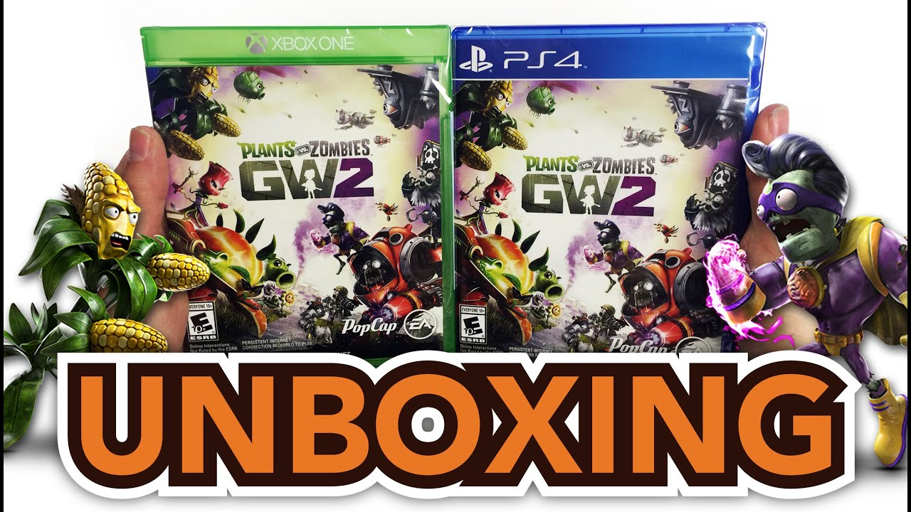 Plants Vs Zombies Garden Warfare 2 Xbox One Ps4 Unboxing Youtube