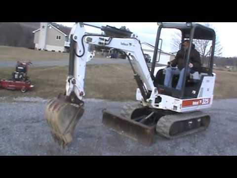 1998 Bobcat 325 Mini Excavator 2 Speed X-Change Bucket Aux Hyds For Sale