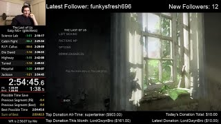 The Last of Us Speedrun World Record! (2:54:45) on Easy mode (Glitchless NG+)